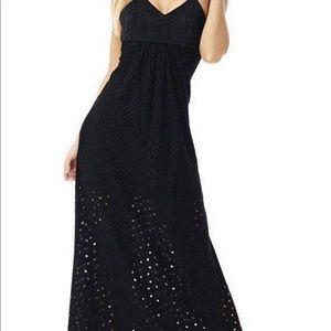 Gorgeous Sky black eyelet maxi dresss